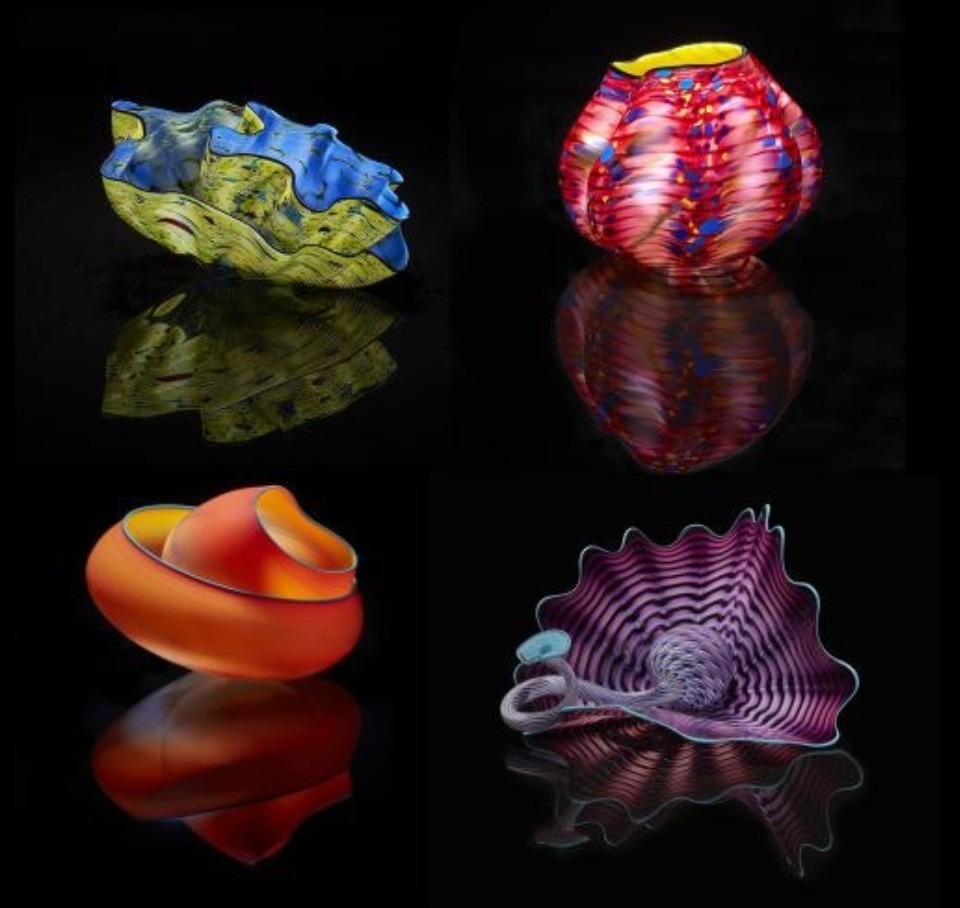 Dale Chihuly glass pieces