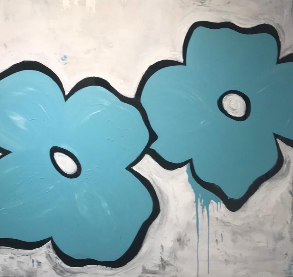 Danielle Flower blue