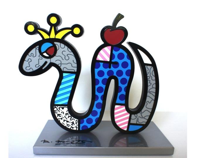 Romero-Britto-Sculpture-Tiny-Temptation-Snake-artreco-1a